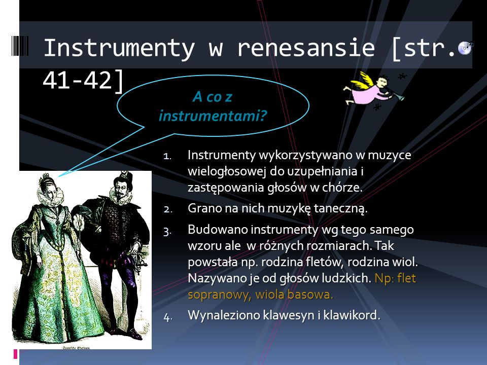 Instrumenty w renesansie [str. 41-42]